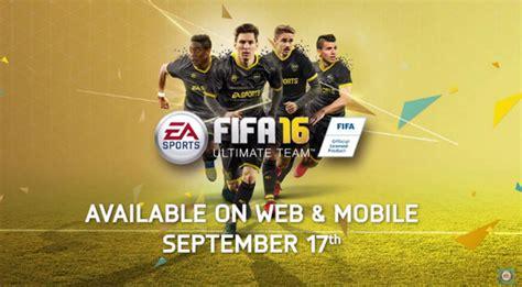 fifa 16 web app release date revealed
