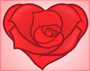 How To Draw A Heart Rose  Rose Heart  Step By Step
