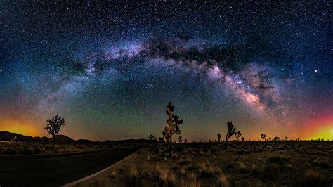 desert road cactus sunset sky star wallpaper  desktop