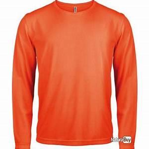 Tee Shirt Homme Manches Longues : t shirt manches longues homme orange fluo xxl pa443 tee shirts de chasse 1704910 ~ Melissatoandfro.com Idées de Décoration