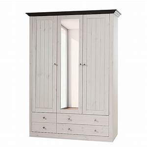 Schrank lyngby iii kiefer massiv wei for Schrank kiefer massiv