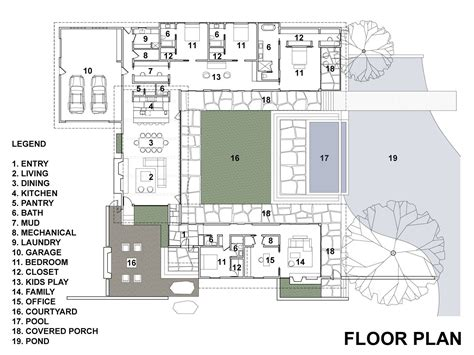 casa floor casa de un piso con cuatro dormitorios construye hogar planos pinterest patio cuadrados