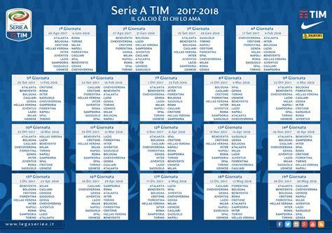 Serie A by Serie A Scarica Il Calendario Stagione 2017 2018