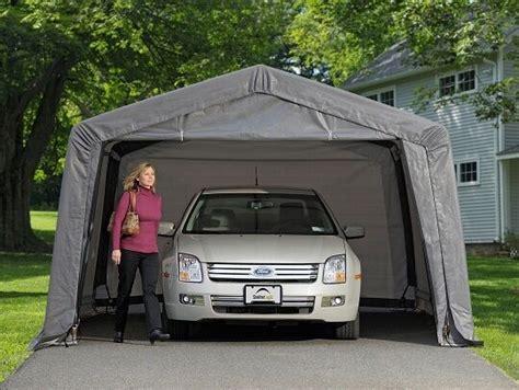 shelterlogic xx auto shelter portable garage steel carport canopy  ebay