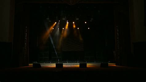 Bright Beautiful Rays Of Light On An Empty Stage Before