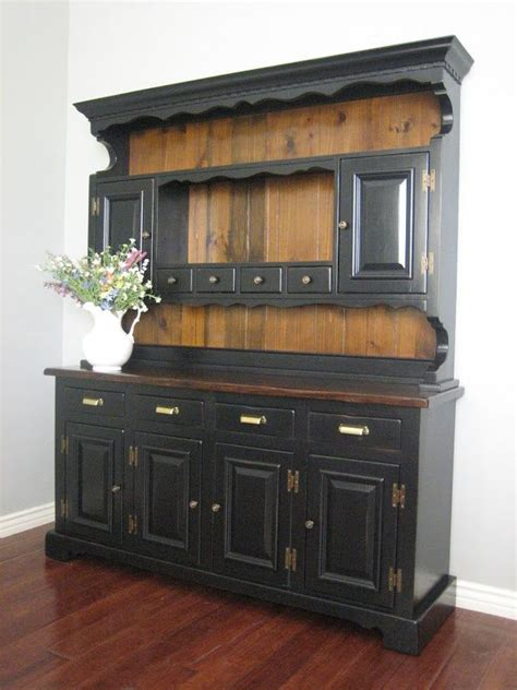images  painted hutches black farmhouse hutch