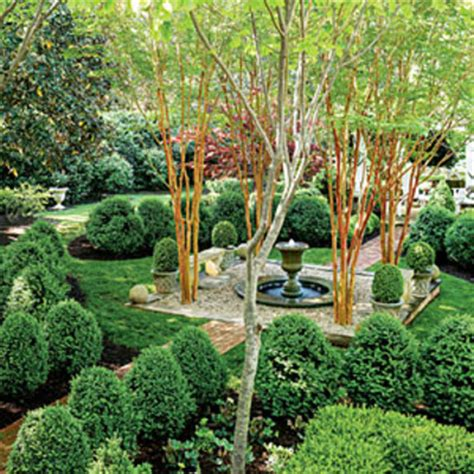 the boxwood parterre all green garden design southern