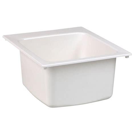 mustee laundry sink 10 mustee 15 in x 15 in fiberglass self bar sink in