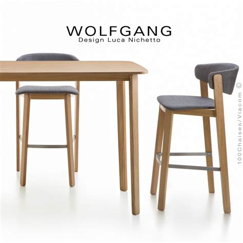 Tabouret Design En Bois Wolfgang, Pour Cuisine Et îlot