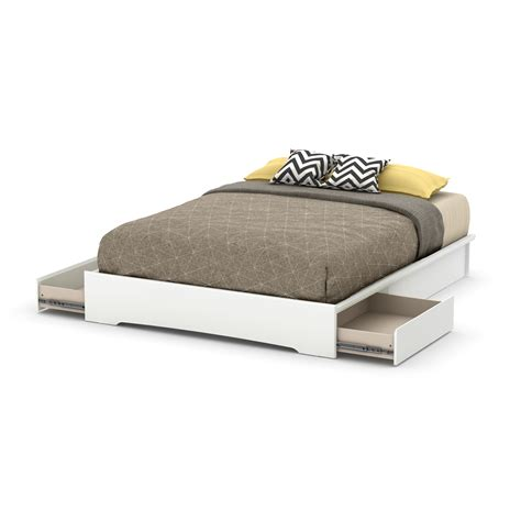 white queen platform bed sears com