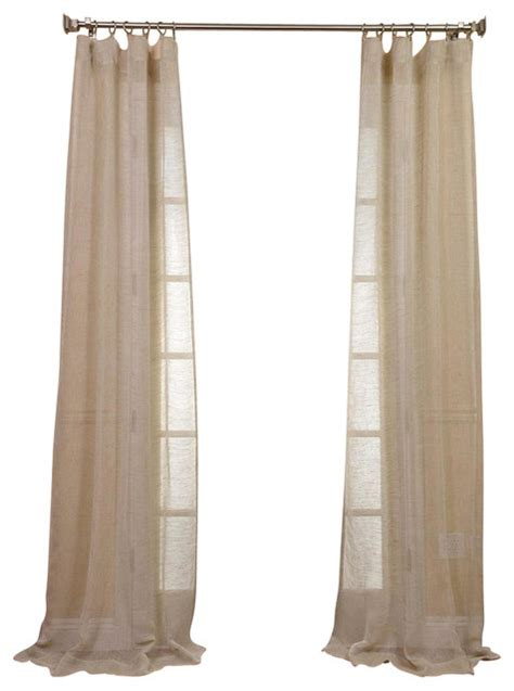 open weave linen sheer quot contemporary curtains