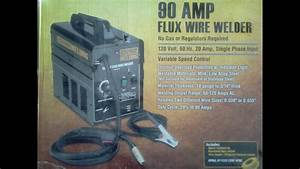 Chicago Electric 90 Amp Flux Core Wire Welder Unboxing