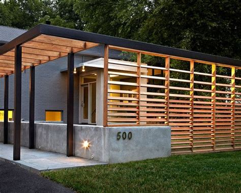metal and wood fence and pergola the metal beam on the