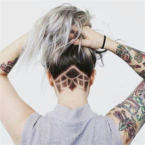 beautiful undercut pattern  women hair styles im