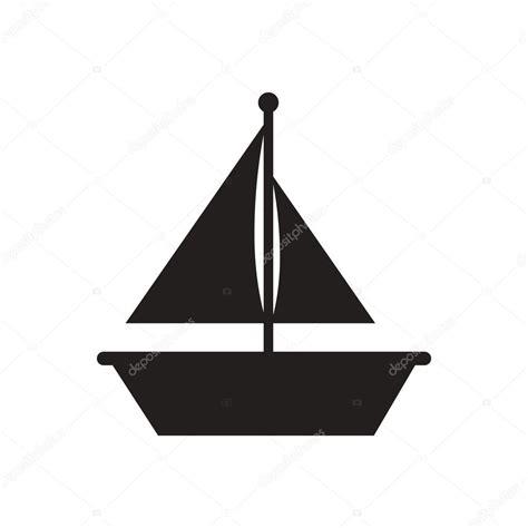 Imagenes De Barcos Vector icono de vector negro en fondo blanco barco y vela