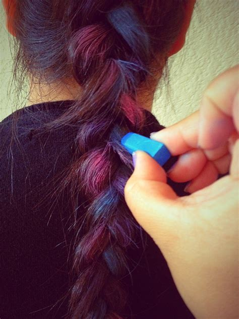 Simply Crafty Chalked Hair
