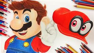 Drawing Mario From Super Mario Odyssey - YouTube