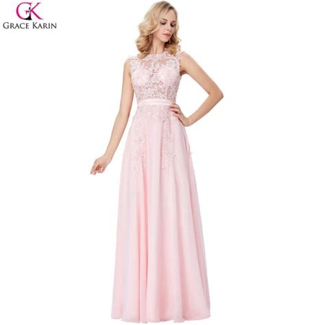 6585 pink lace wedding dress buy evening dress pink chiffon formal gowns lace 6585
