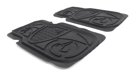 ducks unlimited universal fit vehicle floor mats front rubber black qty 2 spg floor mats