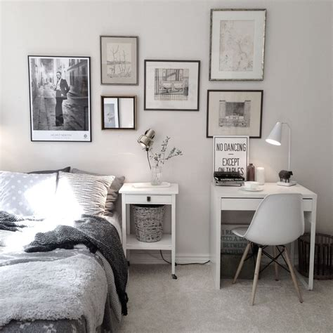 Desk In Bedroom Ideas by Charming Bedroom With Small Work Space With Ikea Micke