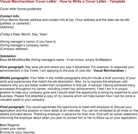 cover letter sle visual merchandising position 28 images