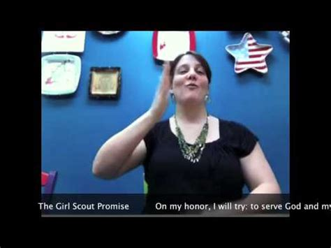 girl scout promise  asl youtube