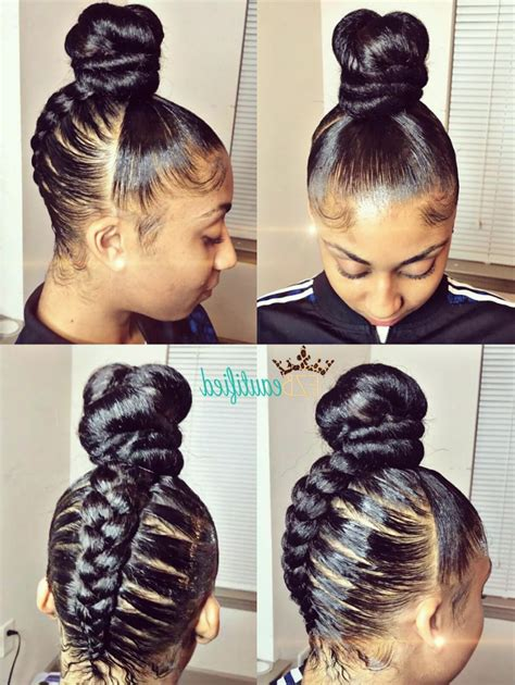 Braided Hairstyles And Creative by 15 Ideas Of Black Braided Bun Updo Hairstyles