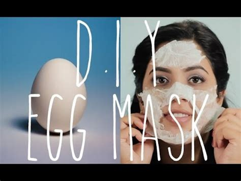 quick diy egg facial mask acne black head removal