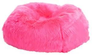 sulivan fur bean bag pink modern outdoor lounge