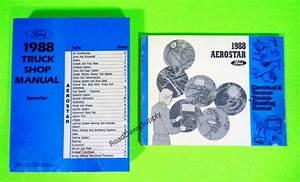 1988 Ford Aerostar Service Shop Repair Manual  U0026 Wiring
