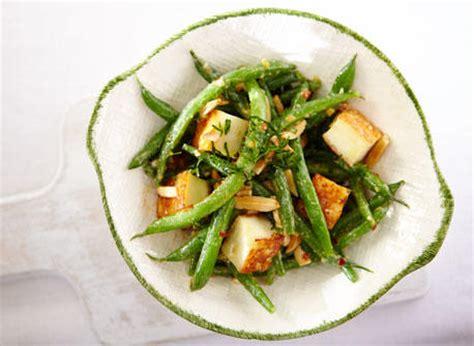 salade tiede aux feves vertes  au paneer grille recette