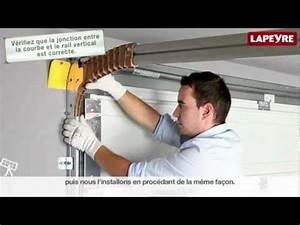 installer une porte de garage sectionnelle youtube With comment isoler une porte de garage