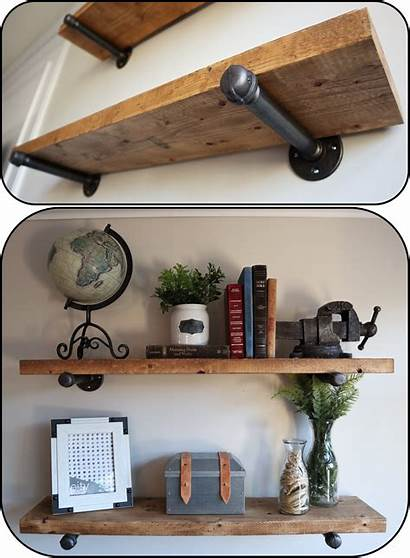 Shelves Office Industrial Pipe Galvanized Shelving Craft
