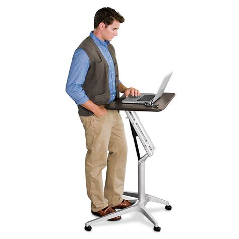 levenger lap desk stand sit to stand rolling workstation levenger