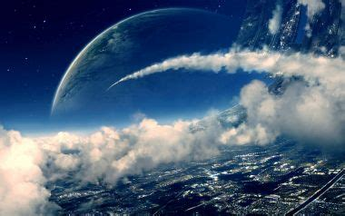 wallpapers abstract futuristic planets clouds outer