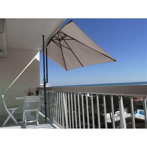 facade cuisine parasol balcon léo taupe rectangulaire l 300 x l 150 cm