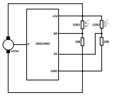 Схема и инструкция по сборке солнечного трекера
