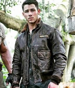 Jumanji Welcome To The Jungle Nick Jonas Alex Pilot Jacket