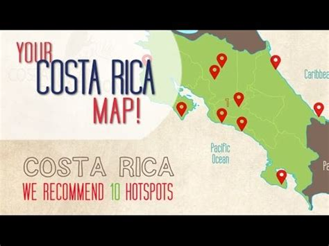 Costa Rica Map Top Highlights Under Min Youtube
