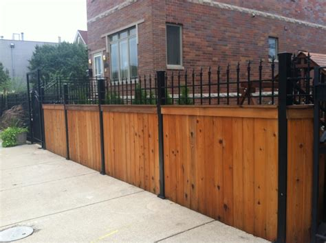 wrought iron wood fence j franco steel porches wood and wrought iron fences