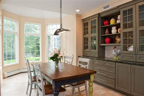 built  china cabinet dining room traditional  area