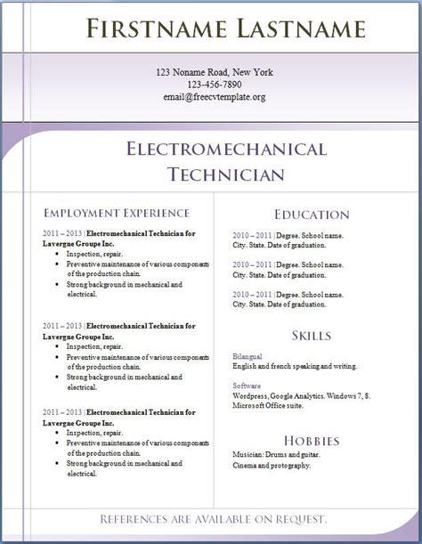 pin by free printable calendar on free sle resume
