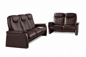 Sofa 3 2 1 Mit Schlaffunktion : leder garnitur 3 2 cantus mit schlaffunktion und sitzverstellung braun sofas zum halben preis ~ Indierocktalk.com Haus und Dekorationen