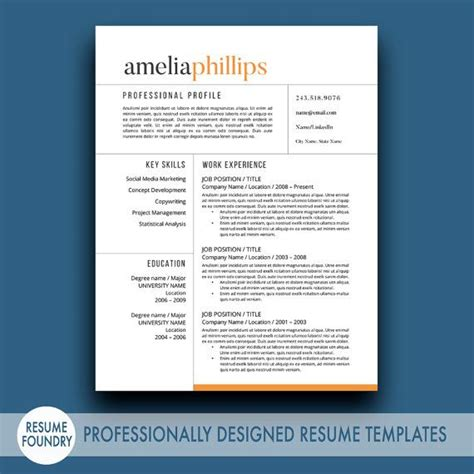 Etsy Resume Template 17 Best Images About Resume Templates Etsy On