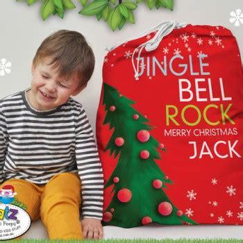 personalised kids christmas santa sacks spatz mini peeps