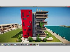 Modern apartment building Minecraft Project Architecture