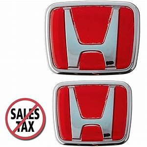 Red Honda Emblem JDM Style Type R Acura Civic Integra ...