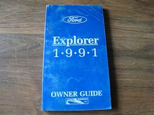 1991 Ford Explorer Owners Guide Glove Box Manual Nwio