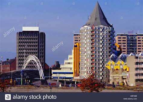 Modern Architecture In Rotterdam The Netherlands The
