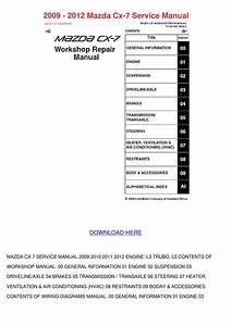 2009 2012 Mazda Cx 7 Service Manual By Marcomacklin